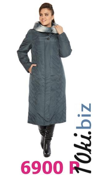 Пальто женское утепленное полуприлегающего силуэта, с капюшоном, с опушкой из искусственного меха Пальто женское купить на рынке Апраксин Двор