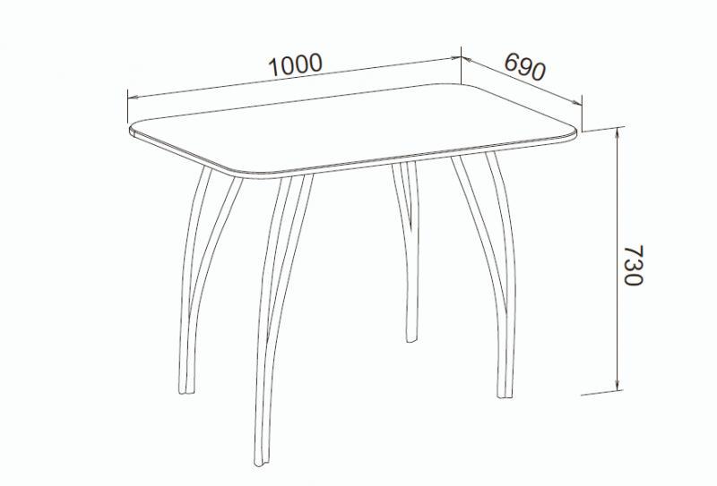 Фото Обеденные столы Стол обеденный МДФ Титан черный (ДСВ)