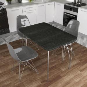 Стол обеденный МДФ Титан черный (ДСВ)