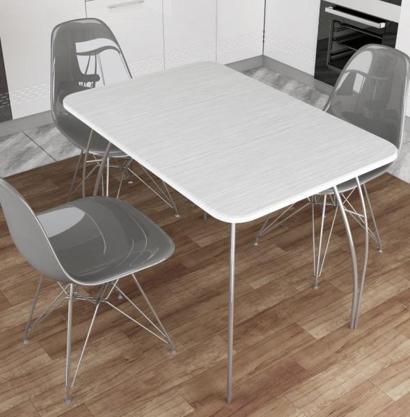 Фото Обеденные столы Стол обеденный МДФ Титан серый (ДСВ)