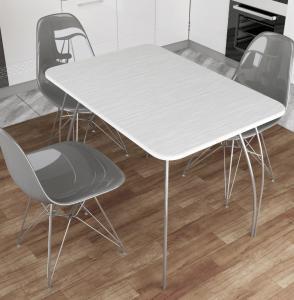 Стол обеденный МДФ Титан серый (ДСВ)