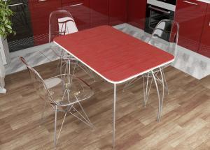 Стол обеденный МДФ Титан красный (ДСВ)