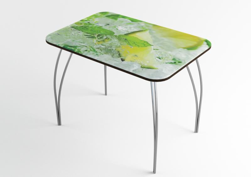 Фото Обеденные столы Стол обеденный стекло Лайм (ДСВ)