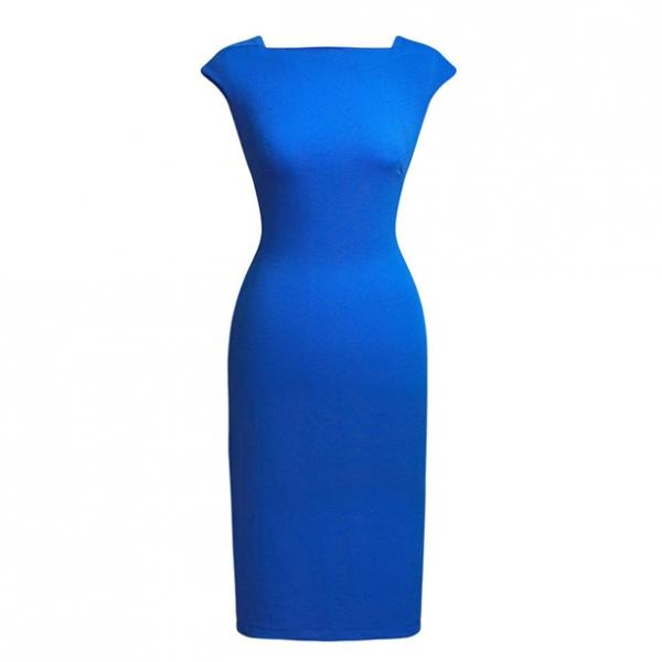 Женское платье «Изящный силуэт». Синяя