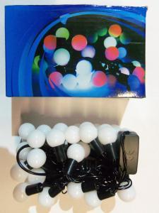 Фото Фонари и лампы, электрические гирлянды., электрические гирлянды Электрическая гирлянда шарик средняя на 40 ламп.