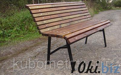 Скамейка из дерева для парка усиленная купить в Астане - Садовые и парковые скамейки с ценами и фото