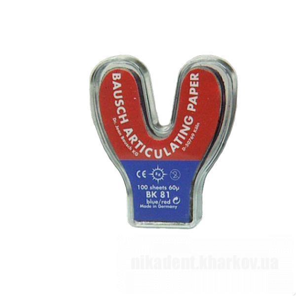 Фото Для зуботехнических лабораторий, АКСЕССУАРЫ, Артикуляционная бумага и окклюзионные спреи BK 81 Артикуляционная бумага (Bausch - Германия)