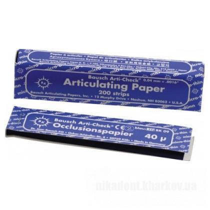 Фото Для зуботехнических лабораторий, АКСЕССУАРЫ, Артикуляционная бумага и окклюзионные спреи BK 09 - Артикуляционная бумага (Bausch - Германия)