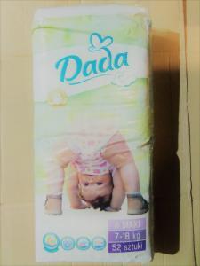 Подгузники детские DADA 4, 52 штуки., 7-18 кг.