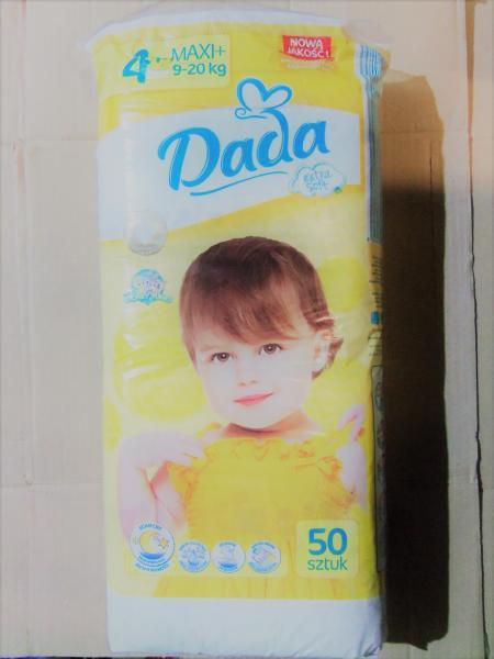 Подгузники детские DADA 4+, 50 штук., 9-20 кг.