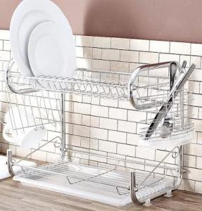 Фото Сушилки для посуды Много функциональная сушилка для посуды двух ярусная EDENBERG EB-2108