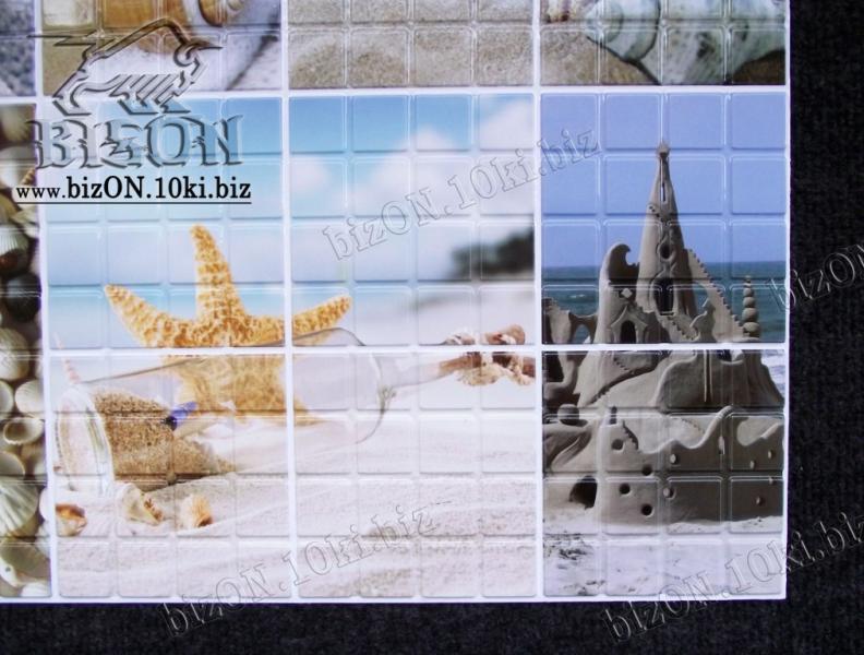 Декоративная Мозаика «МОРСКОЙ БЕРЕГ»   Листовые панели ПВХ
