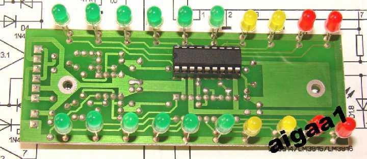 2-х кан. индикатор уровня 2х10 LM3914 , LM3915