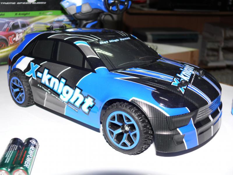 Машинка ралли, полный привод 4X4 , 333-GS07B цвет синий с черным карбон. Длина 30 см.