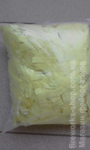 Фото Конфетти хлопушки, Конфетти на вес Конфетти БУМАГА ЖЕЛТАЯ 1 кг