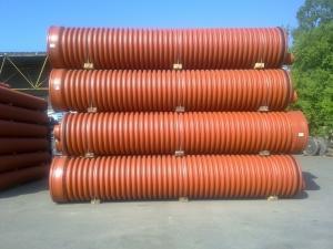 Фото Трубы гофрированные для наружной канализации Труба гофрированная 600х6000мм
