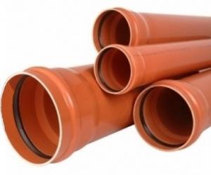 Фото Трубы ПВХ для наружной канализации Труба ПВХ 110х3.2х1000мм