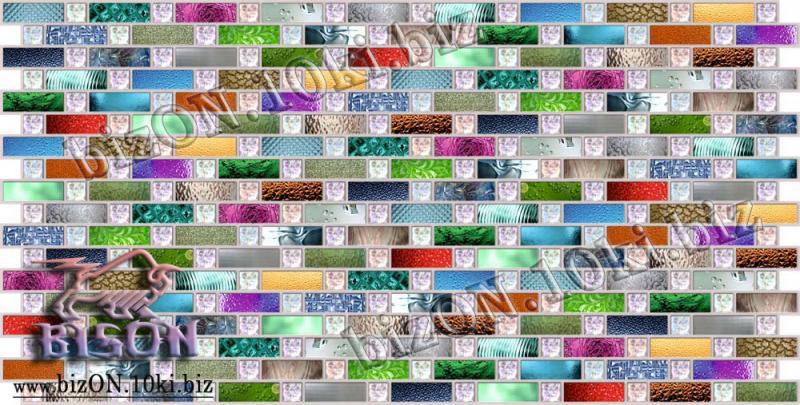 Фото Листовые панели ПВХ Декоративная Мозаика «РАДУГА»   Листовые панели ПВХ