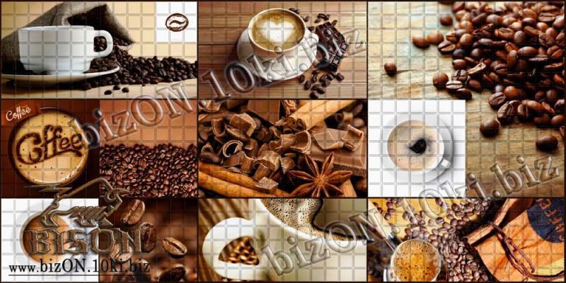 Фото Листовые панели ПВХ Декоративная Мозаика «КОФЕЙНЯ»   Листовые панели ПВХ