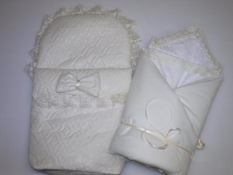Фото Для новорожденных, Наборы на выписку Конверт на выписку весна-лето с одеялом