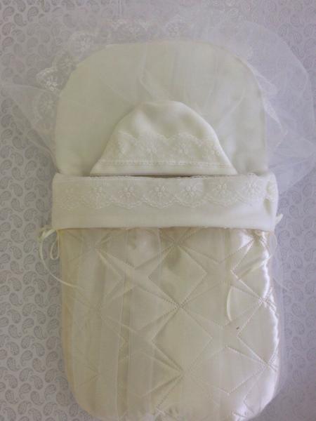 Конверт для новорожденного королевский с накидкой
