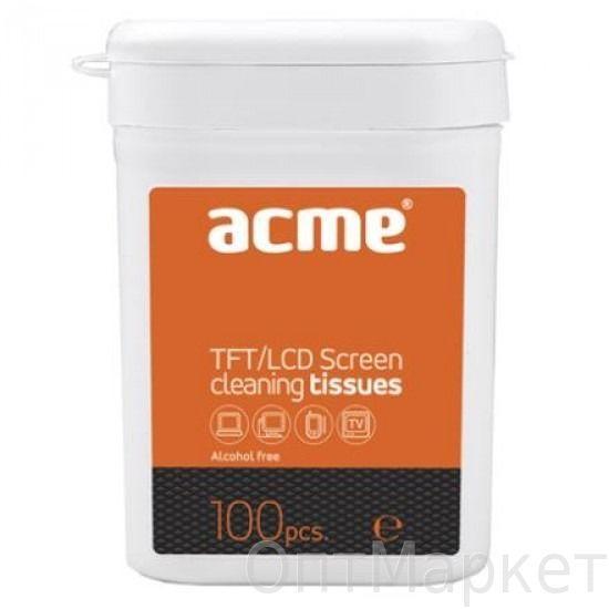 Салфетки для оргтехники в плоской тубе Аcme 100 шт.