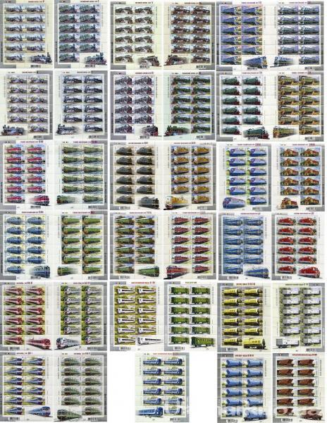Все серии - 9 комплектов в листах