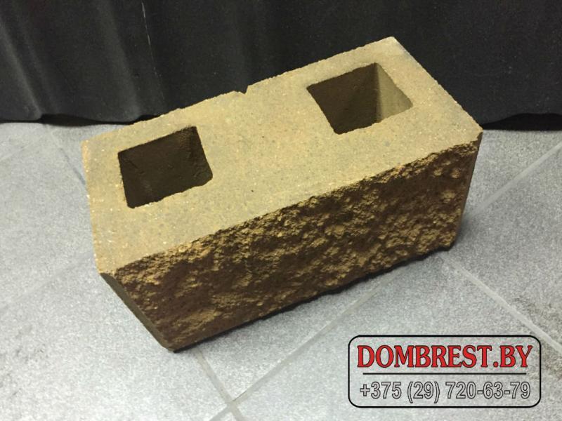 Декоративные блоки демлер для забора, рваный камень, фундаментные блоки демлер, цветные демлер блоки в Бресте.
