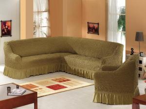 Чехлы для угловых диванов + 1 кресло