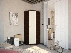 Фото  Шкаф угловой с одной дверью . Венгер/лоредо