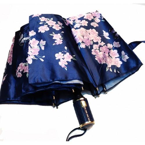 Женский зонт полуавтомат 3 сложения Popular Артикул 1004-290 синий