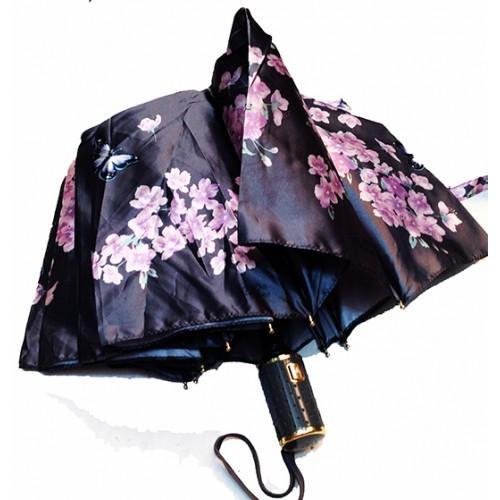 Женский зонт полуавтомат 3 сложения Popular Артикул 1004-290 черный