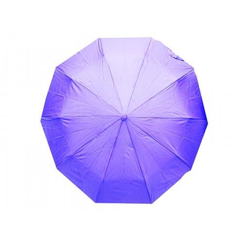 Женский зонт полуавтомат 3 сложения Артикул 110 голубой