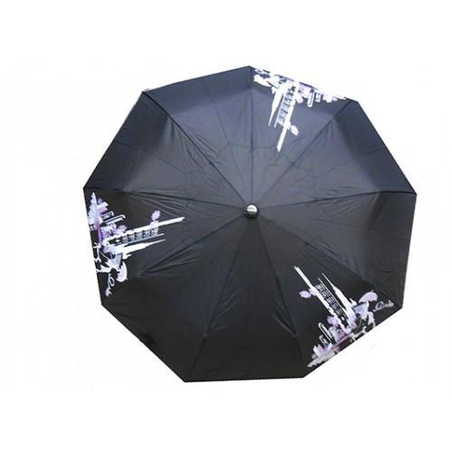Женский зонт полуавтомат 3 сложения Tornado Артикул 57 черный