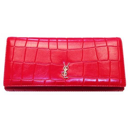 Женский кошелек Yves Saint Laurent Артикул C-6013 красный