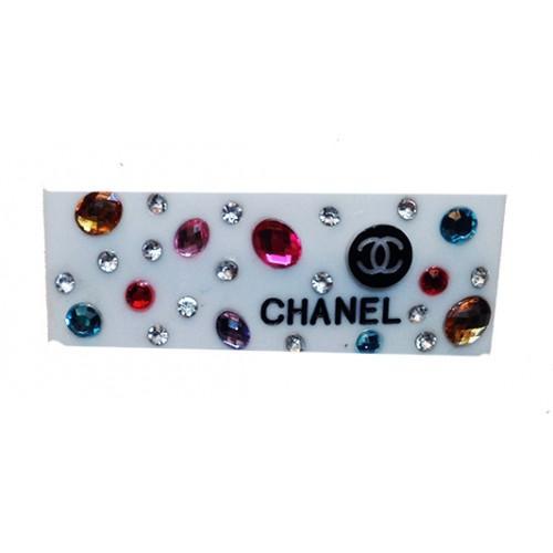 Заколка для волос автомат Chanel Артикул 945-80 белая