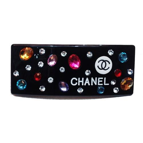 Заколка для волос автомат Chanel Артикул 945-80 черная