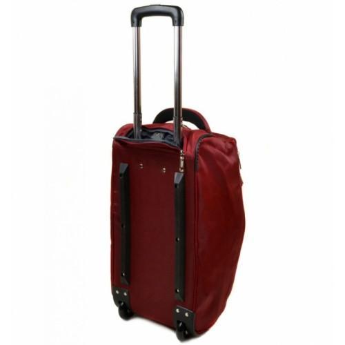 Дорожная сумка на колесах Артикул 22838-24 бордовая