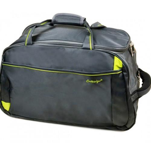 Дорожная сумка на колесах Артикул 22838-24 серая