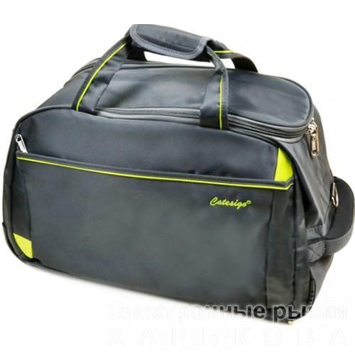 Дорожная сумка на колесах Артикул 22838 серая - Дорожные сумки и чемоданы на рынке Барабашова
