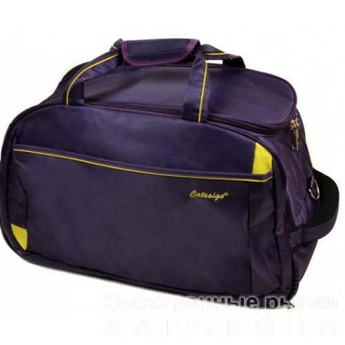 Дорожная сумка на колесах Артикул 22838-24 фиолетовая - Дорожные сумки и чемоданы на рынке Барабашова