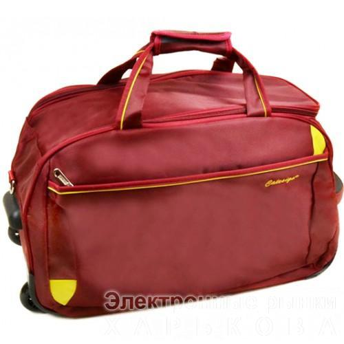 Дорожная сумка на колесах Артикул 22838 бордовая - Дорожные сумки и чемоданы на рынке Барабашова