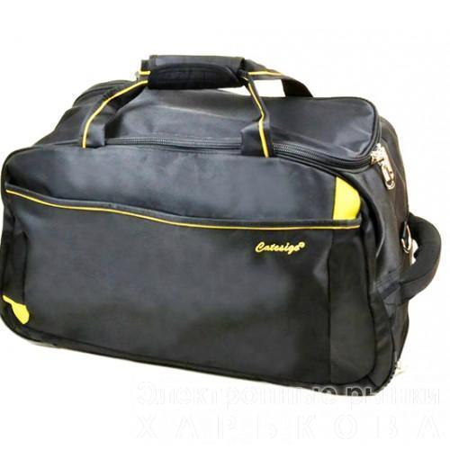 Дорожная сумка на колесах Артикул 22838-24 черная