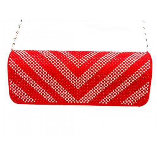 Женская вечерняя сумка Артикул 6349 красный