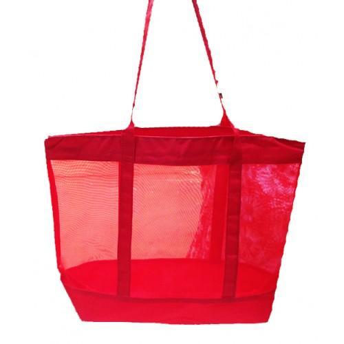 Женская пляжная сумка-сетка Salvatore Ferragamo Артикул 1342 бордовая