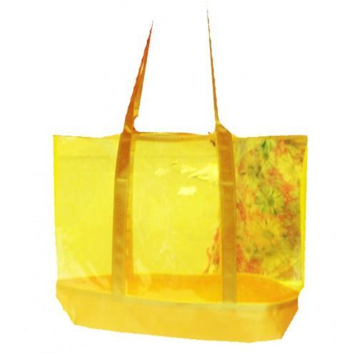 Женская пляжная сумка-сетка Salvatore Ferragamo Артикул 1342 лимонная