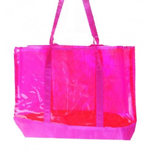 Женская пляжная сумка-сетка Salvatore Ferragamo Артикул 1342 малиновая