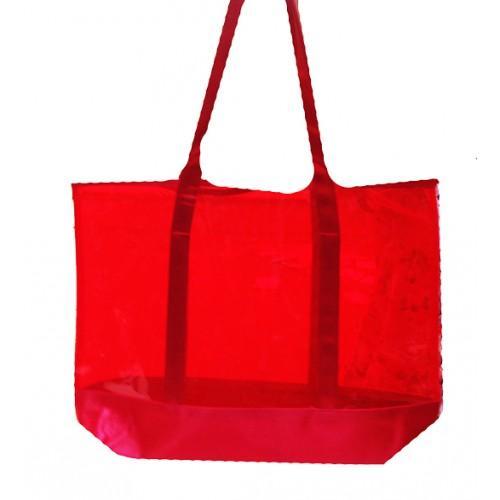 Женская пляжная сумка-сетка Salvatore Ferragamo Артикул 1342 красная