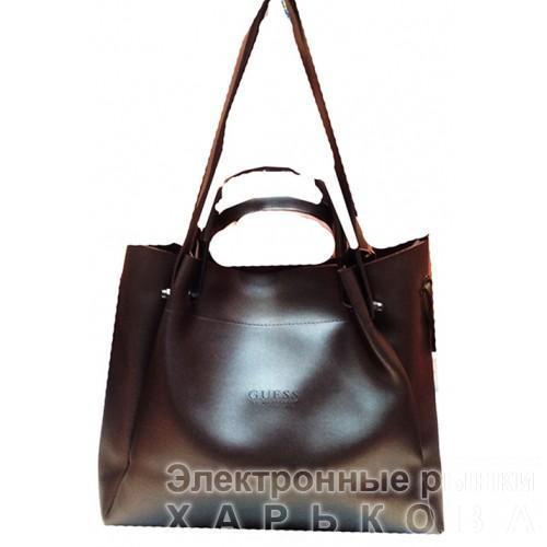 71cffb3ed39e Женская сумка GUESS Артикул 4-18-18 шоколадная - Женские сумочки и клатчи  на рынке Барабашова