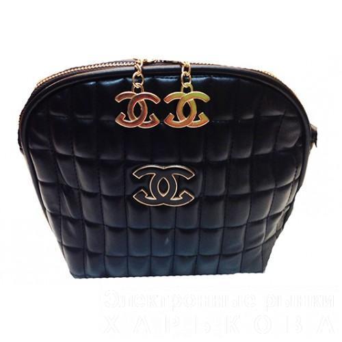 ad70d3bb0423 Женская сумка клатч Chanel Артикул 0056 черный - Женские сумочки и клатчи  на рынке Барабашова ...